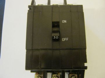 CRABTREE C50 10 AMP TRIPLE POLE MCB CIRCUIT BREAKER. 53/10